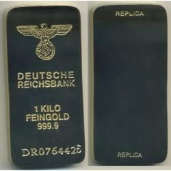 Replica di lingotto d39oro dello stato nazista