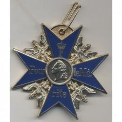GrandOrdine oro prussiano esercito tedesco imperiale Blue Max Pour Le Merite. 7x7 cm