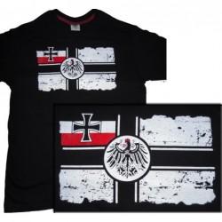 Tshirt di cotone con bandiera marina imperiale