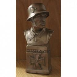 Busto in bronzo ottonato 19 cm