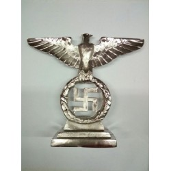 Aquila da tavolo argento 15 cm altezza