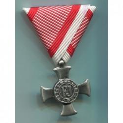 Croce di ferro al merito Eisernes Verdienstkreuz. Dimensioni 5080 mm. Finitura nichelata ed anticata.