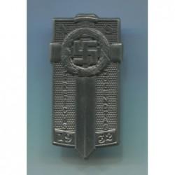 Distintivo Hitlerjugend per il Primo Raduno di Postdam Argento