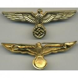 Aquila da cappello dellesercito in metallo dorato per generali