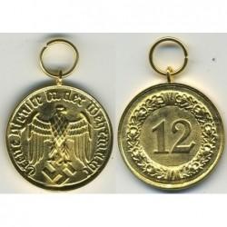 Medaglia di oro per 12 anni di servizio fedele nella Wehrmacht