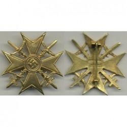 Croce al merito di guerra con spade per la guerra di Spagna. Grado oro