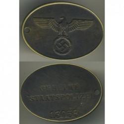 Observador Naval Insignia del Ejército Alemán en 1914.