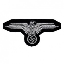 Armoured WaffenSS sleeve eagle. Embroidered on black wool.