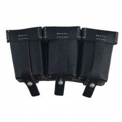 WHSS Ammopouch  black. M1911 Mauser 98k ammunition pouch. Made of black pebbled leather