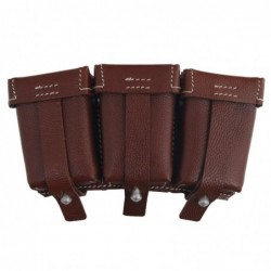 WHSS Ammopouch  brown. M1911 Mauser 98k ammunition pouch. Made of black pebbled leather