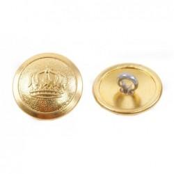 Bottoni prussiani con corona  diametro 21 mm  ottone